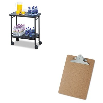 KITSAF8965BLUNV40304 - Value Kit - Safco Folding Office/Beverage Cart (SAF8965BL) and Universal 40304 Letter Size Clipboards (UNV40304)