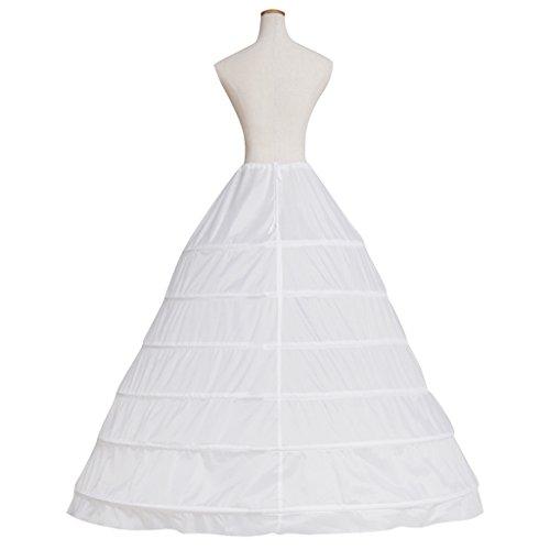 6 Abito Sposa Cerchi Ballo Petticoat Cosplayitem Bianco Crinolina Da Sottogonna Sottoveste HxAwqFq7
