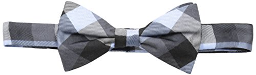 Tommy Hilfiger Men's Buffalo Tartan Pre-Tied Bow Tie, Black, One ()