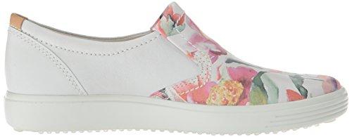 Soft Floral Sneaker ECCO 7 White Women's White On Print Powder Slip 0qqZX5Pw
