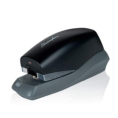 Swingline Automatic Stapler, Breeze, 20 Sheet Capacity, Battery Powered, Black (42132) (Electronic Stapler)