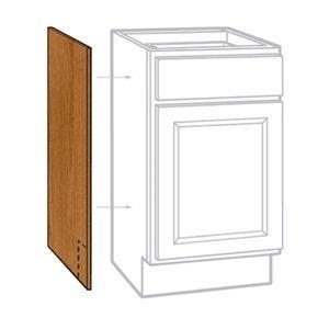 LES CBKAS2435-MO Medium Oak Finish Base Cabinet End Panel (2 Pack), 24