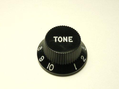 MIJ Tone Knobs for Fender Stratocaster Inch (Black)