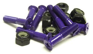 Standard Purple Skateboard Hardware Set - 1