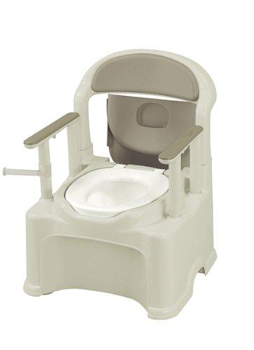 豊通オールライフ D0760 ポータブルトイレGR-1 標準タイプ (ブラウン) 消臭フォーム1本付き 便座カバー1枚付き 樹脂製ポータブルトイレ B00G4ZKUWI 標準|ブラウン ブラウン 標準