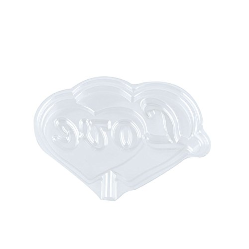 100 PCS Chocolate Molds Baby Shower Candy Making Supplies Jelly Maker Wholesale SK092 LOVE Heart by WOWGAME2009