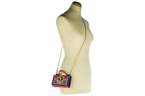Dolce&Gabbana pochette donna in pelle con tracolla nuova originale dauphine ipho