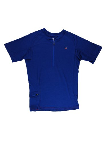 PULSE red Men's Zip-Neck Sport Shirt