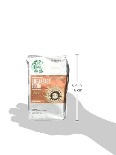 Starbucks Breakfast Blend Medium Roast Ground Coffee, 12-Ounce Bag (Pack of 6) by Starbucks (Image #4)
