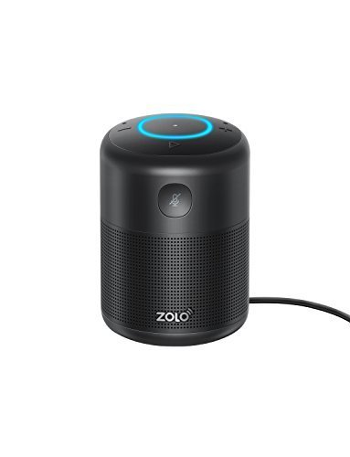 ZOLO Halo Bluetooth and Wi-Fi Smart Speaker with Alexa and Powerful Sound, Voice Control, and Stream Amazon Music Unlimited,Spotify,TuneIn, iHeartRadio,...