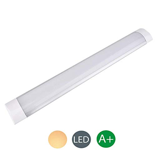 10W led Tube Light, 1PCS 30cm 1200LM Ultra-Thin Batten Led Light barrina led Led Ceiling Light LED Light Bar Kitchen Furniture Light for Factory,Hotel,School,Family,Office,Basement(Warm White)