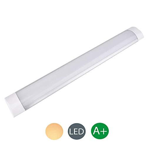 10W led Tube Light, 1PCS 30cm 1200LM Ultra-Thin Batten Led Light barrina led Led Ceiling Light LED Light Bar Kitchen Furniture Light for Factory,Hotel,School,Family,Office,Basement(Warm White)