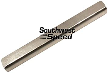 Southwest Speed 1' Double D Steering Shaft, 18' Long, Nickel Plated, Intermediate, CAN BE Cut to Length to FIT Almost Any 1' DD Application, CNC MACHINED 18 Long CAN BE Cut to Length to FIT Almost Any 1 DD Application