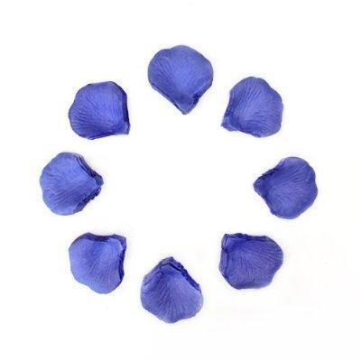 1000 Petalos de Rosa para Bodas y Fiestas en Seda Azul Confeti(1000 Blue Petals