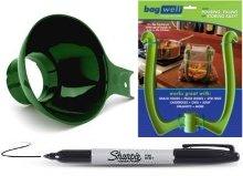 Bag Well Freezer Bag Holder for 1 Gallon Plastic Baggies W/W