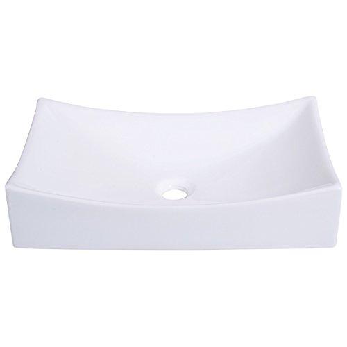 - Vessel Sink, Rectangle Above Counter Porcelain Ceramic Bathroom Vessel Vanity Sink Art Basin (HY-7145)
