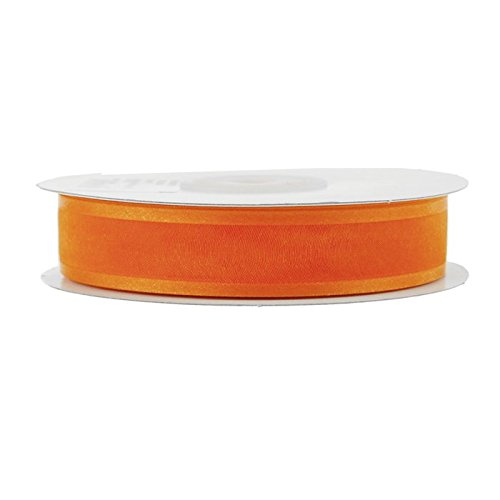 Homeford FCR000SES0708172 Satin-Edge Sheer Organza Ribbon, 7/8-Inch, Orange