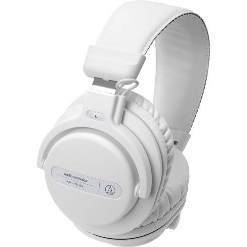 Audio-Technica ATH-PRO5XWH Professional Closed-Back Dynamic Over-Ear DJ Monitor Headphones, White