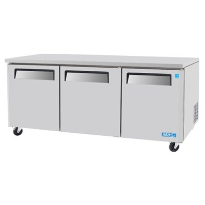 Series Commercial Undercounter Refrigerator - Turbo Air MUR-72 Undercounter Refrigerator - Standard 3 Doors, 19 Cu. Ft., 1/2 HP