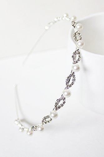 Generic Korean Institute of wind school season sweet Beautiful pearl diamond hoop new simple small fragrant wind diamond headband