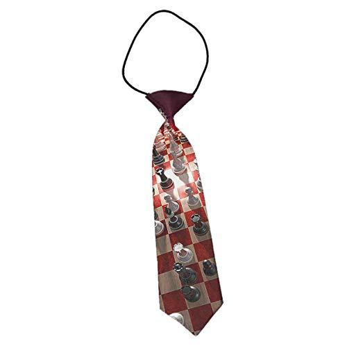 A World Of Chess Game Boys Novelty Necktie Formal Wear Pre-Tied Kids Neckwear Ties