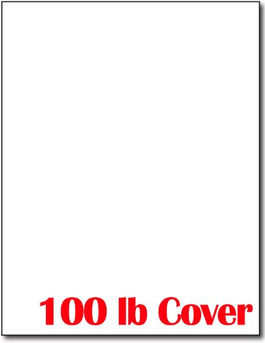 Extra Thick 100lb Cover White Cardstock - 50 Sheets