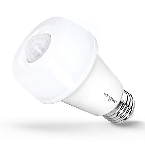 Sengled Smartsense Motion Sensor Light Bulb 5000K Daylight Auto on Off Motion Activated LED Bulb A19 65W Equivalent Closet Basement Porch Hallway Light Bulb, 1 Pack