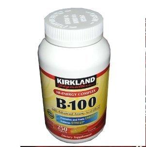 Kirkland B-100 Comprimés d'énergie Hi complexes 250-Comte