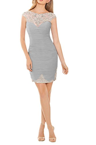 Promgirl House - Robe - Crayon - Femme -  argent - 48