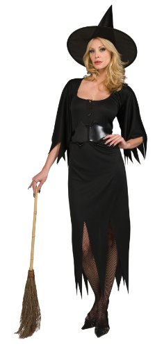 [Witch Costume - Standard Size] (Classic Black Witch Costumes)