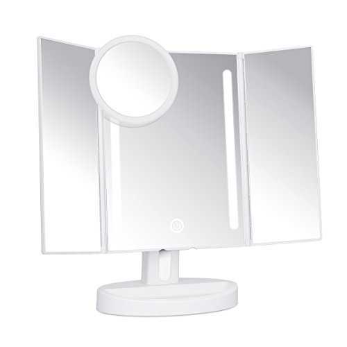 KEDSUM LED Lighted Makeup Mirror, Travel Vanity Mirror with Lights, Lighted Tabletop - Bathroom Kedsum Mirrors Adjustable