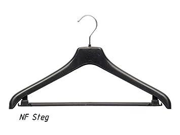 Kleiderbuegel aus Plastik HL240 schwarz 40cm NEU 15 Stück Kostümbügel mit Steg