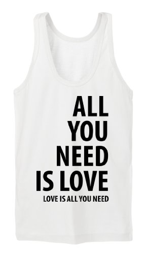 All You Need Is Love Tanktop Girls Blanc