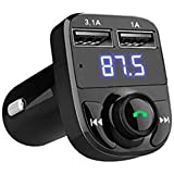 Bluetooth Car Kit Hands-free Wireless Bluetooth FM Transmitter LCD MP3 Player with USB Charger