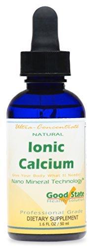 Good State Liquid Ionic Calcium Ultra Concentrate - 10 Drops Equals 50 Mg - 100 Servings Per Bottle 1.6fl. oz