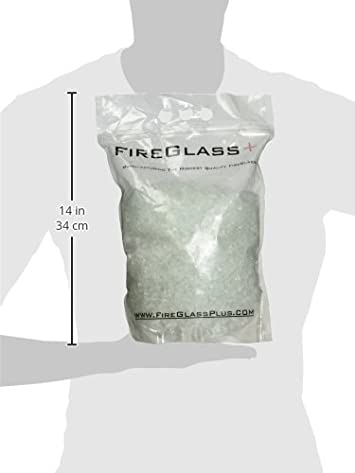 Quarter Inch Crystal Ice Fire Glass, 10 Pound Bag