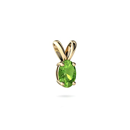 14kt Yellow Gold Peridot 6x4mm Oval Solitaire ()