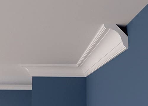 12, 70mm x 70mm L Polystyrene BFX6 COVING Cornice Moulding Wall//Ceiling Decoration Lightweight Home Decor Interior Design 2 Meters