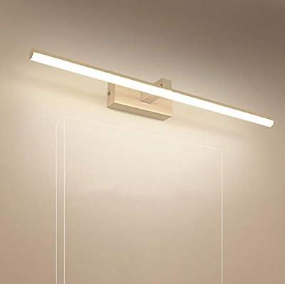 Dikani Mirror Light Led Makeup Light Bathroom Mirror Cabinet Light Nordic Modern Minimalist Wall Lamp Waterproof Fog Lamp (Size 40/60/80/100/120cm), (Light Color: Warm Light)