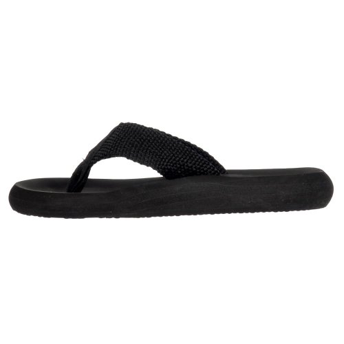Rocket Dog Women's Sunset Webbing Flip Flops Black LCUir1