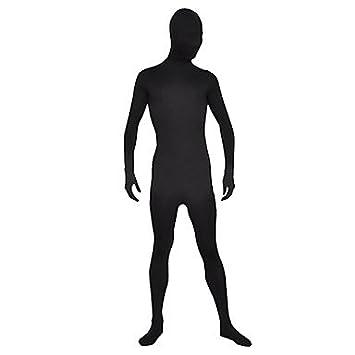 cosplay? Negro Unisex Lycra Spandex Unicolor Zentai traje ...