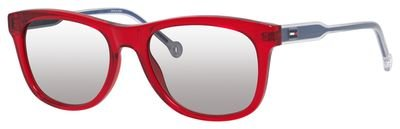 Tommy Hilfiger Th1501s Rectangular Sunglasses, Red, 49 mm