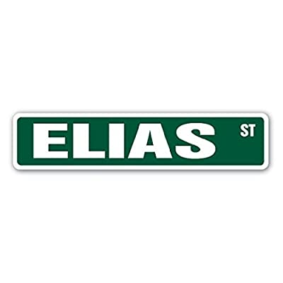 ELIAS Street Sticker Name Kids Childrens Room Door Bedroom Girls Boys Gift - Sticker Graphic - Sticks to any smooth surface: Automotive