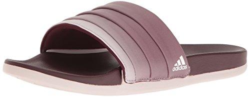 adidas Women's Adilette CF+ Armad Athletic Slide Sandals, Maroon/Ice Purple Collegiate Navy, 11 M US