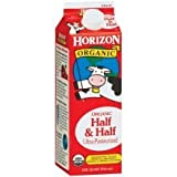 WhiteWave Horizon Organic Half and Half Cream, 32 Ounce -- 12 per case.