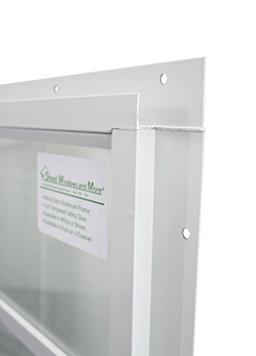 Shed Window 14 X 21 White J-Channel Mount Safety Glass by Shed Windows and More (Image #2)