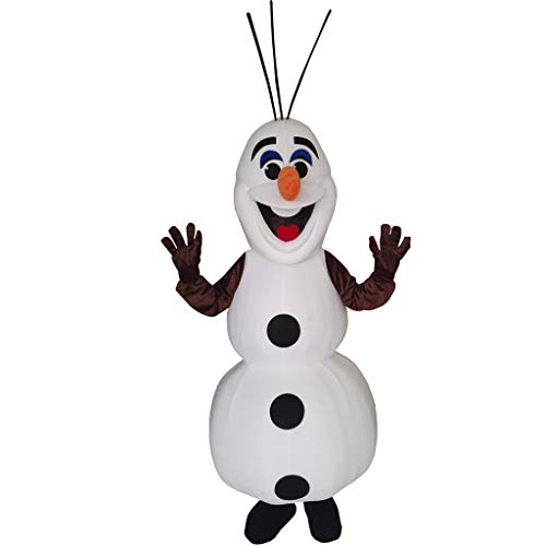 CosplayDiy Snowman Mascot Costume Adult Size Helloween Cosplay (168-172, White)]()