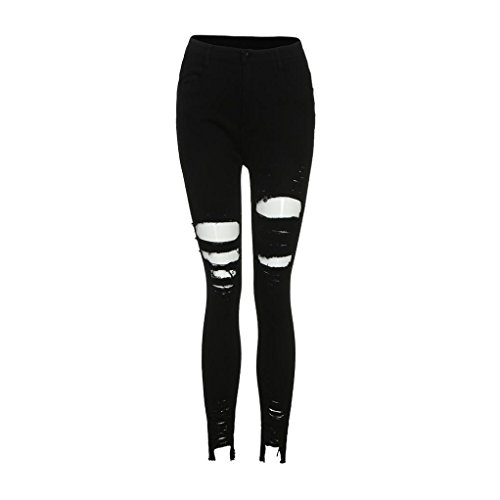 En À Femme Aimee7 Haute Troué Élastique Destroy Jeans Skinny Déchirés Pantalons Denim Slim Taille Axwa8