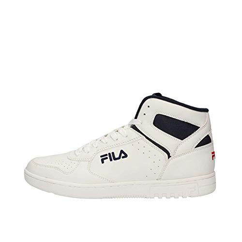 Nera White Alto F Uomo 1010510 In Collo A Fila forward Scarpe 12v Sneakers Pelle vZwRq