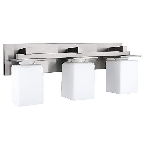 RUGUS Vanity Lighting Bath Light Bar Interior Lighting Fixture,3-Light Vanity Wall Sconce(Brushed Nickel)